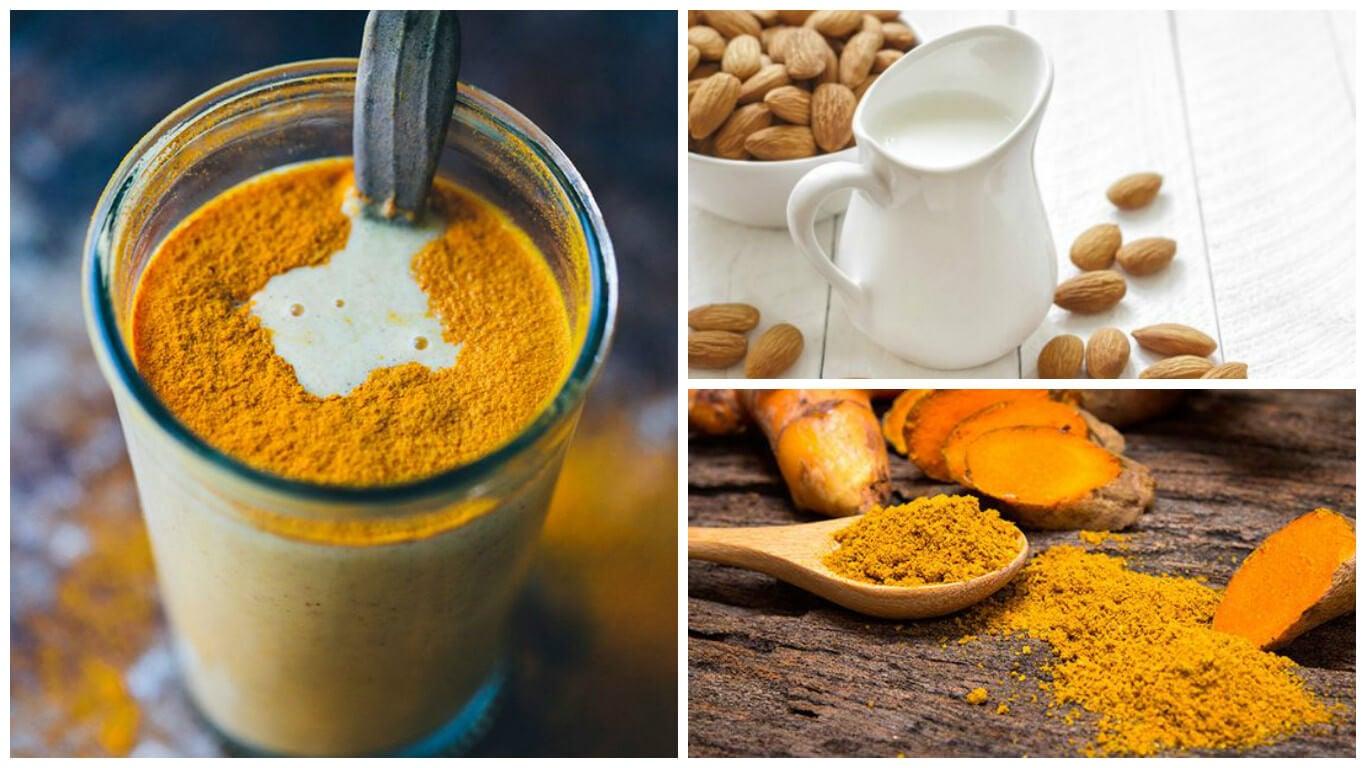 Cómo preparar una bebida antiinflamatoria de cúrcuma y leche de almendras
