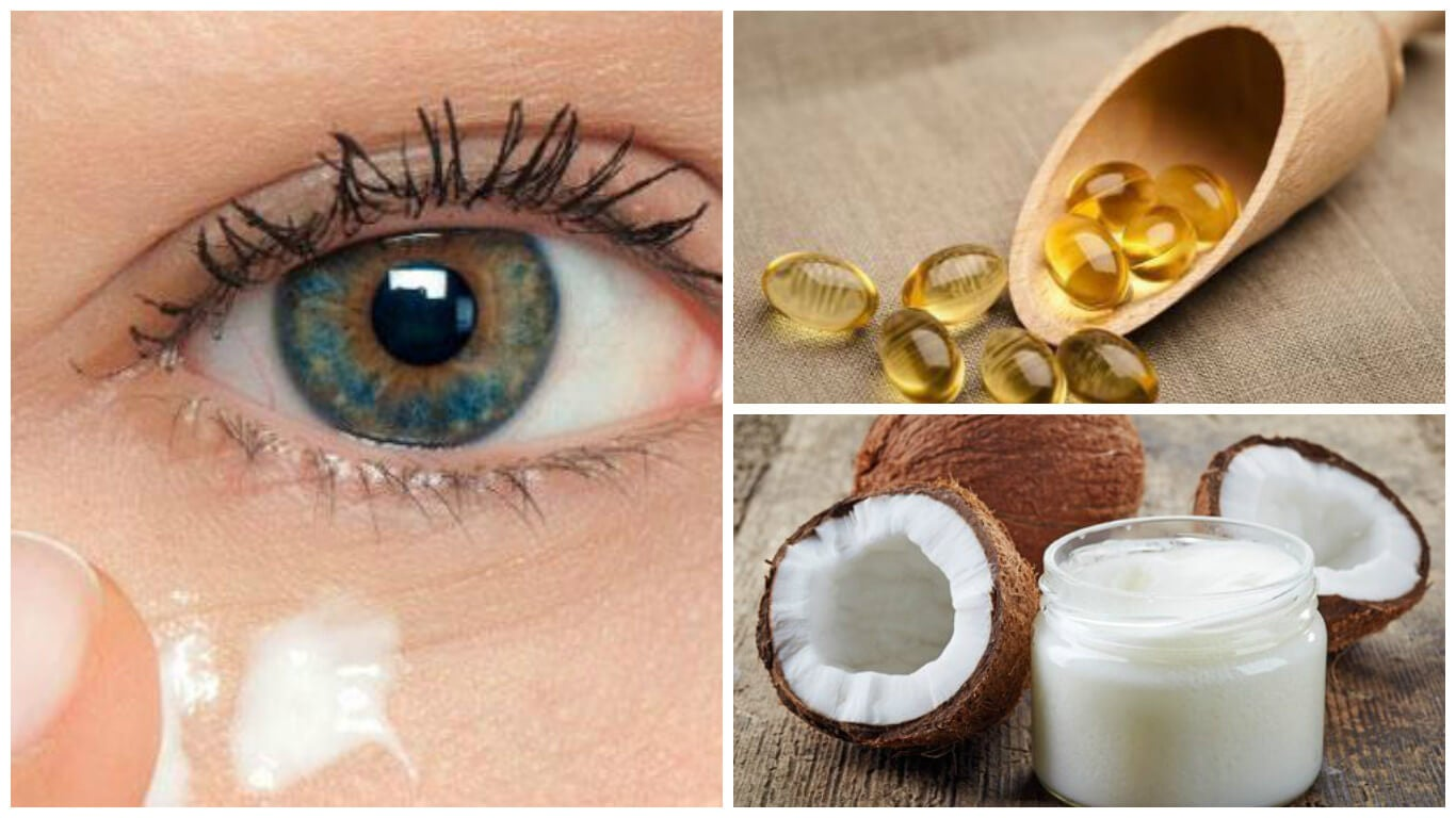 Rejuvenece el contorno de los ojos con aceite de coco