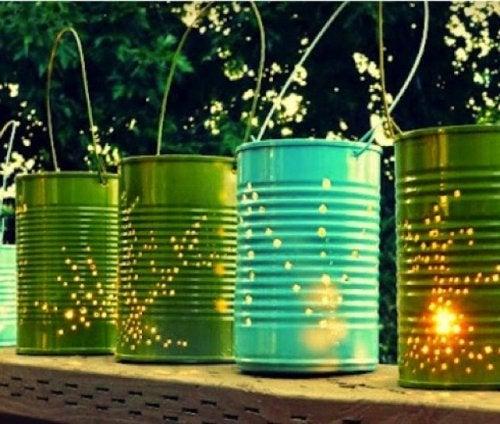 Windlichter Recycling Garten