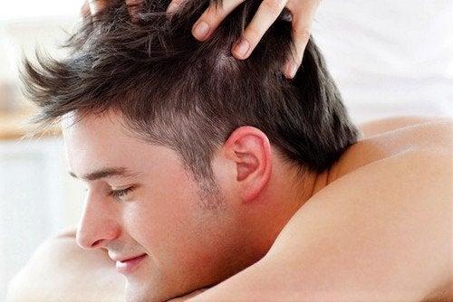masaje en la coronilla relajacion