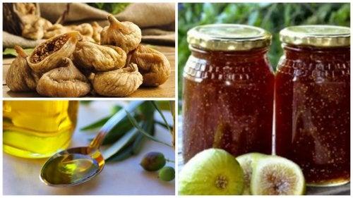 Preparado de higos y aceite de oliva para controlar el colesterol y la anemia