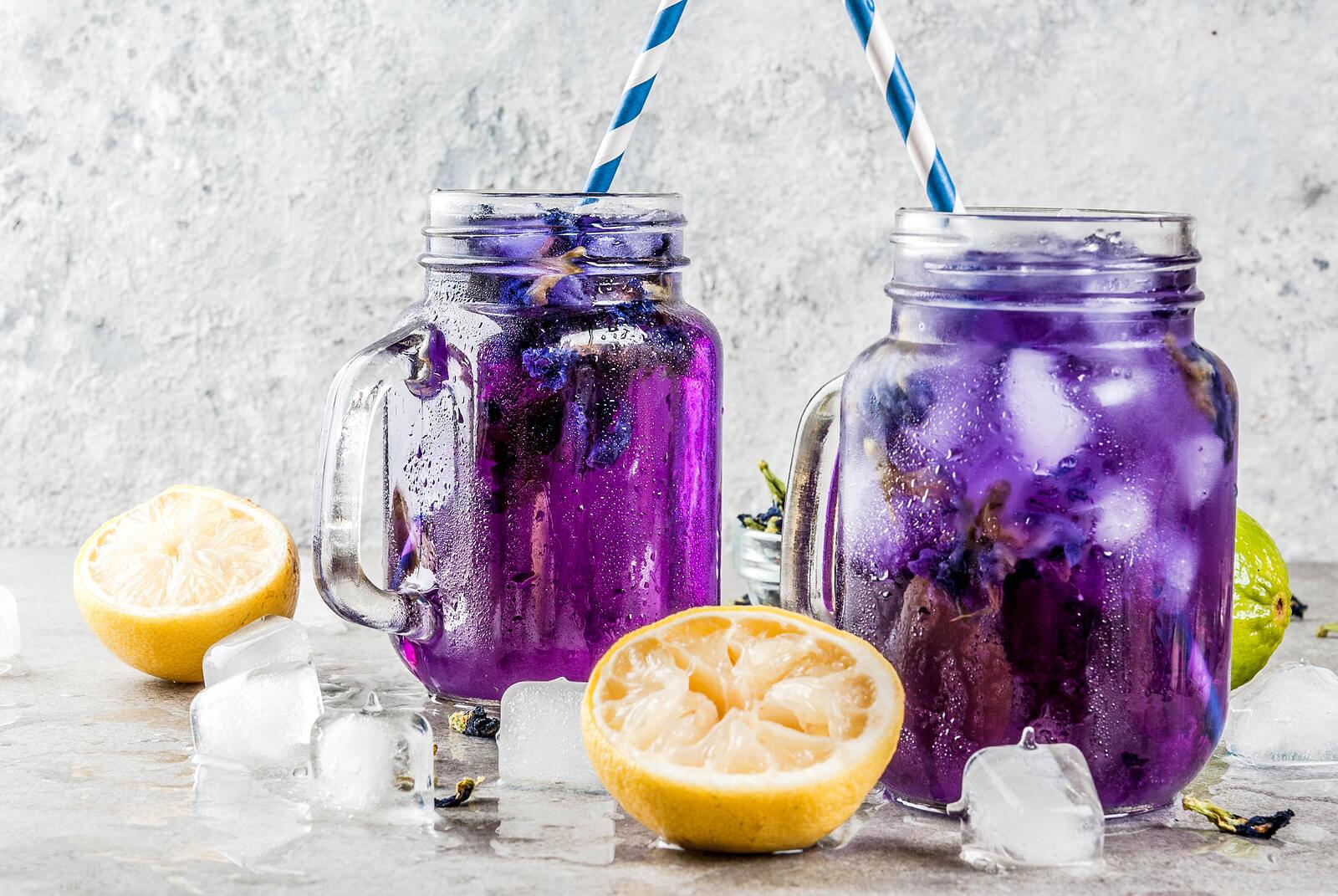 Agua de berenjenas con limón