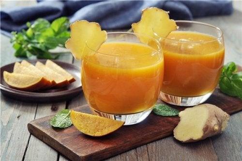 batido especial de mango y jengibre