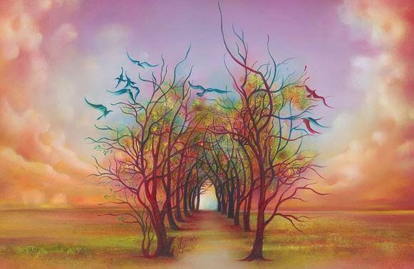 camino-de-árboles-fantasía