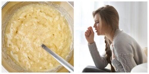 Crema de banana y miel para aliviar la tos y los síntomas del resfriado