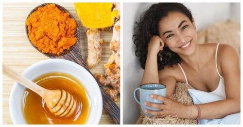 Estimula tu función cerebral con cúrcuma, miel y canela
