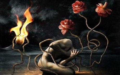 hombre-enredado-en-raíces-en-fuego