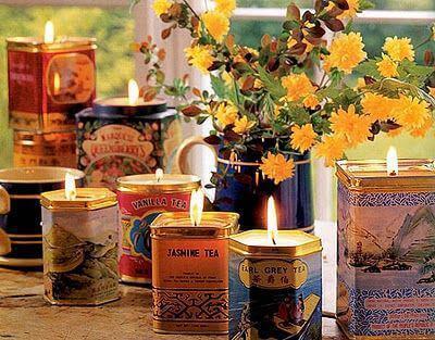 Kerzenleuchter aus Recycling