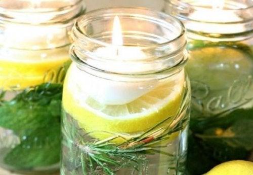 Velas aromáticas de citronela