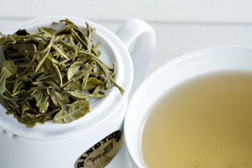 Infusión de té blanco