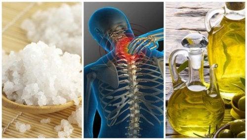 Un maravilloso tratamiento con sal y aceite para los dolores articulares