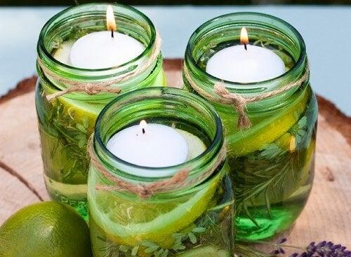Cómo hacer dos preciosas velas aromáticas para ahuyentar insectos
