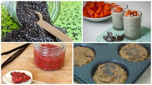5 deliciosas formas en las que puedes aprovechar los beneficios de las semillas de chía