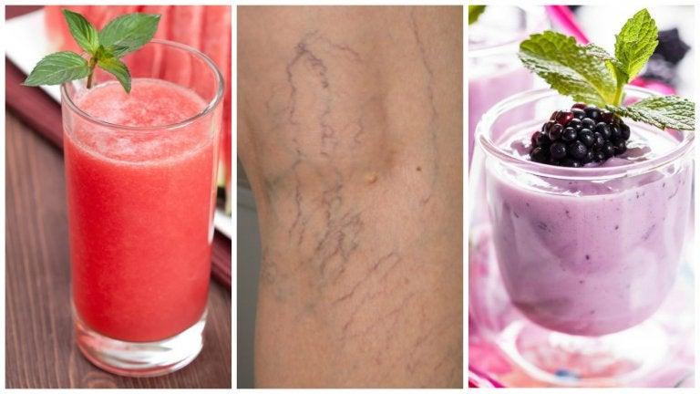 5 deliciosos licuados para combatir las várices naturalmente