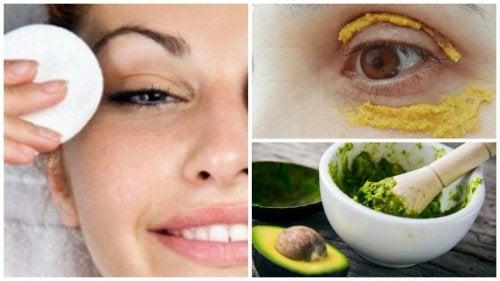 La eliminación de las arrugas menudas alrededor de los ojos