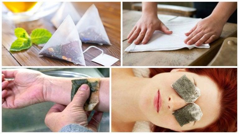 9 usos alternativos de las bolsas de té usadas que te encantará conocer