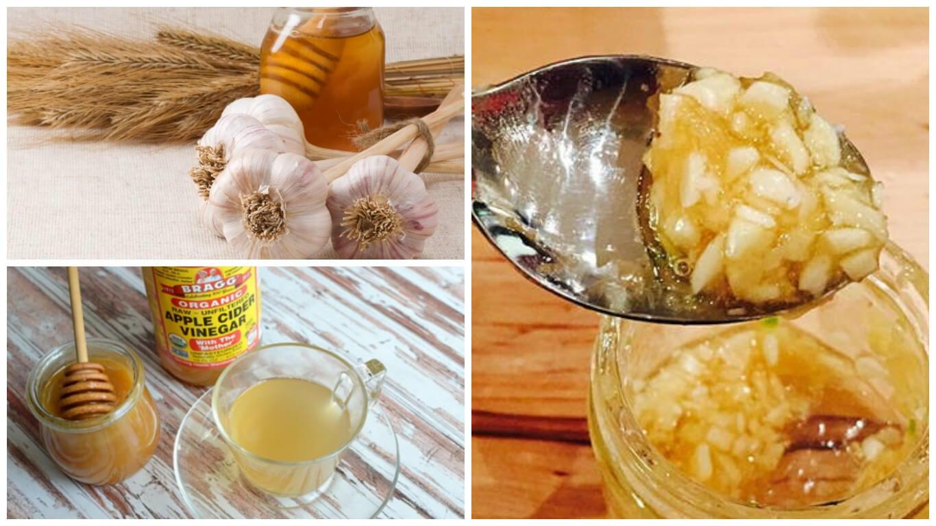 Combate la indigestión y el exceso de peso con esta mezcla de ajo, miel y vinagre de manzana