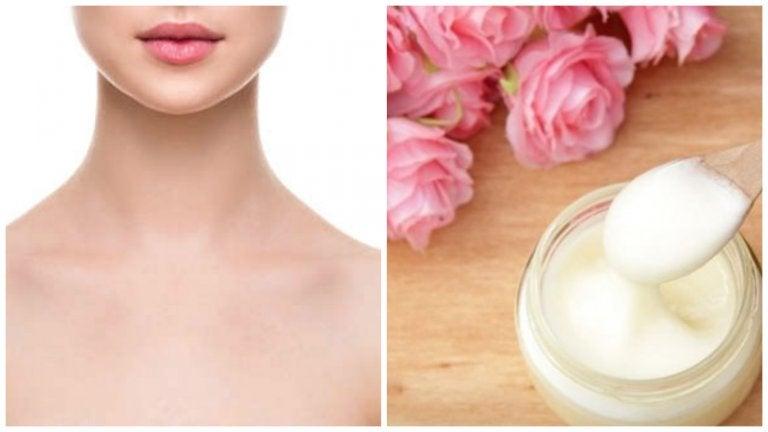 Cuida la piel de tu escote con esta mascarilla de yogur y aceite de rosas