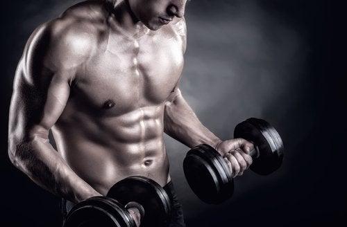 Desarrollar masa muscular en los brazos