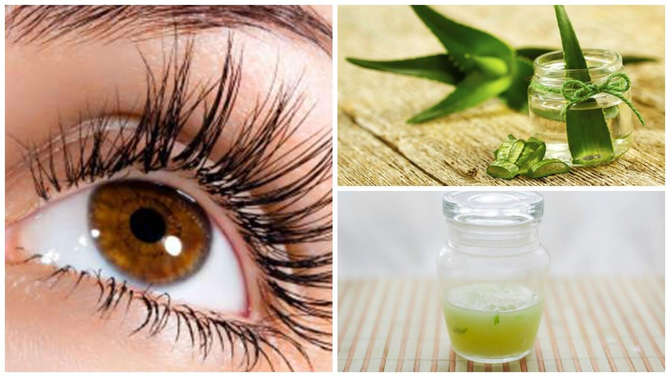 Fortalece y alarga las pestañas con este tratamiento de aloe vera y vitamina E