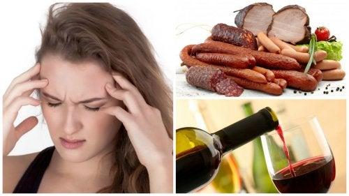Los 9 alimentos y bebidas que te pueden causar migrañas