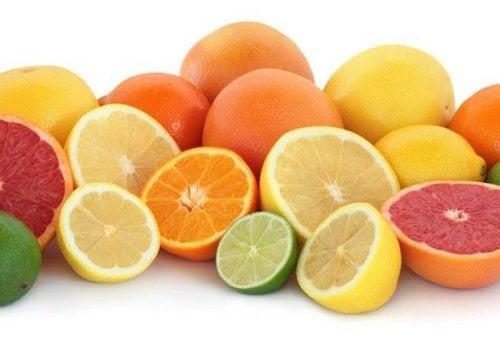 As frutas cítricas são alimentos ricos em fibras