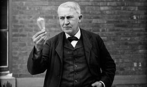 Thomas Edison, inventor of the light bulb.
