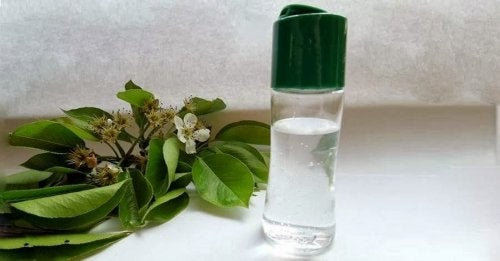 Gel desinfectante para manos elaborado en casa.