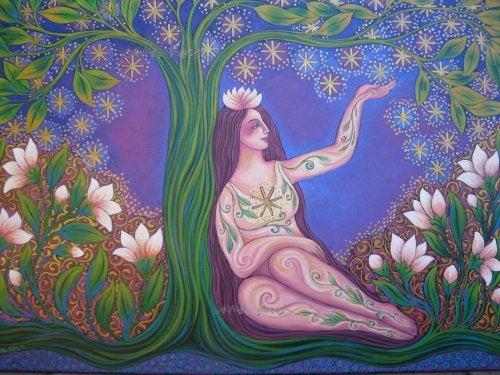 mujer-bosque