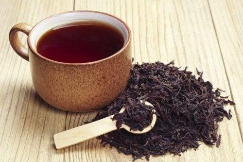 Cura el flemón con té negro