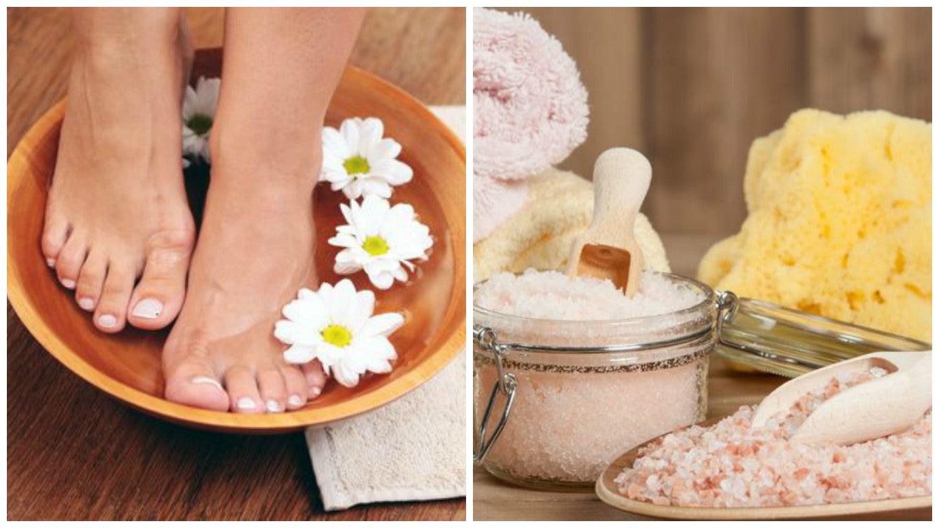 Cómo preparar en casa un baño desintoxicante para los pies
