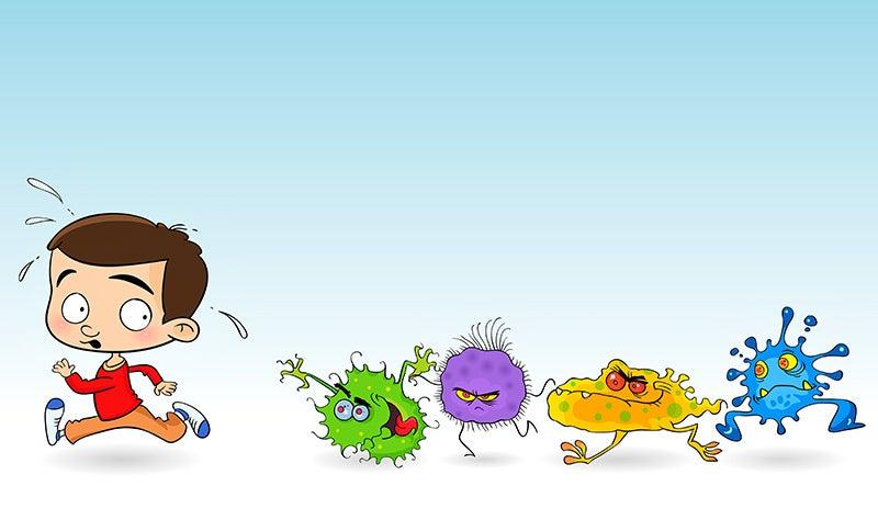 Cómo ayudar a nuestro hijo a evitar los gérmenes