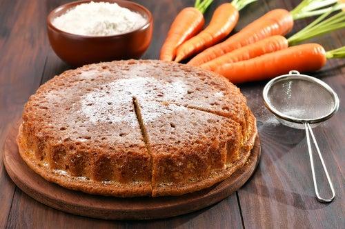 Bizcocho y zanahoria