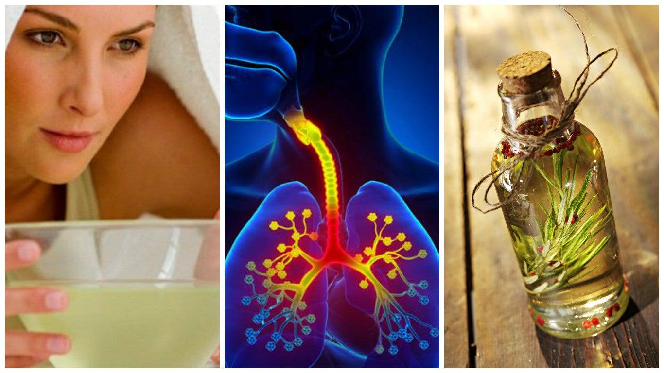 Controla los síntomas de la bronquitis con estos 6 remedios caseros