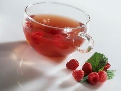 El té de hojas de frambuesa
