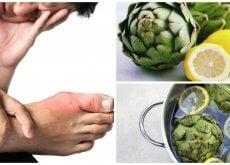 Elimina el exceso de ácido úrico de tu cuerpo con agua de alcachofa y limón