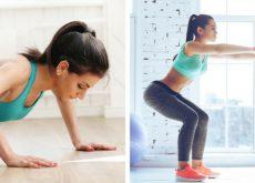 Ponte en forma con solo 4 ejercicios
