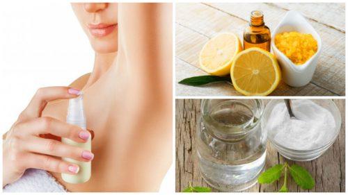 Prepara desodorantes caseros naturales