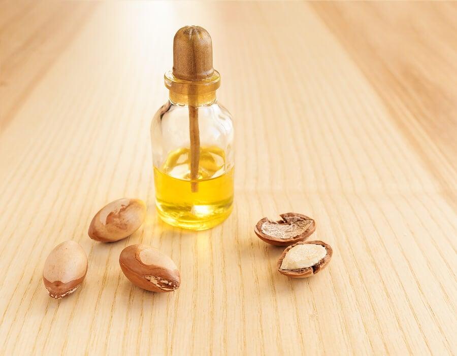 Botella de aceite de argán