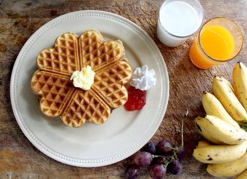 Deliciosos gofres sin gluten, sin lácteos y sin azúcar