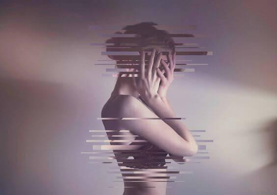 mujer-fragmentada-final de una relación
