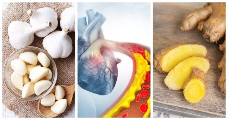Combate la hipertensión y el colesterol alto con este remedio casero de jengibre y ajo