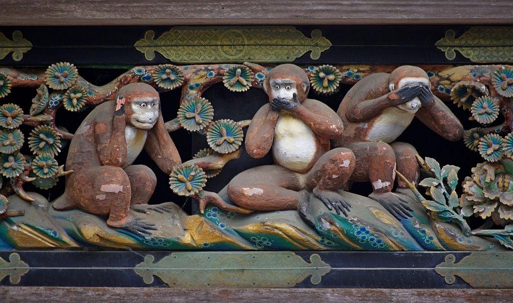 """La acertada enseñanza de los """"tres monos sabios"""" que te hará reflexionar"""