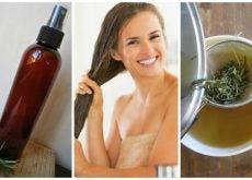 Cómo preparar un acondicionar herbal con vinagre para fortalecer el cabello