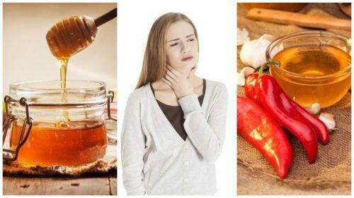 Calma el dolor de garganta con este remedio antibiótico de ajo, pimienta y miel