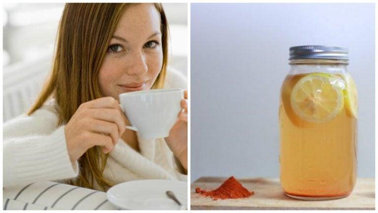 Promueve tu bienestar con cúrcuma y agua con limón