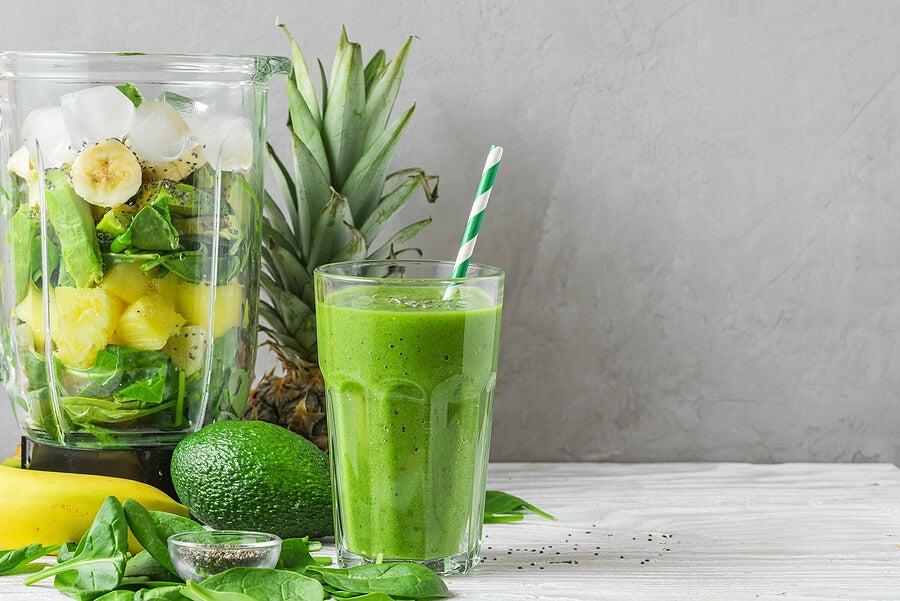 Batidos verdes para depurar el cuerpo.