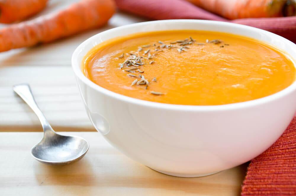 Crema de zanahoria cúrcuma