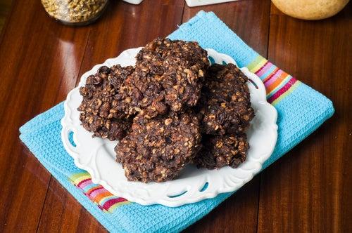 Galletas superenergéticas de avena, cacahuete y cacao sin gluten