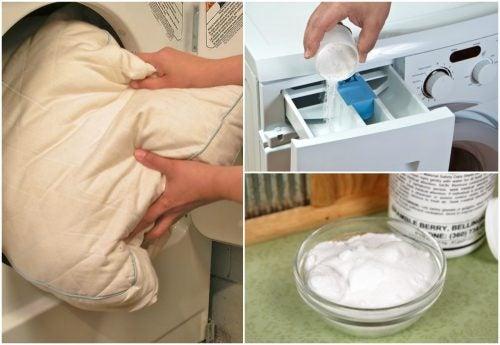 5 trucos para blanquear y desinfectar tus almohadas